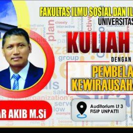 KULIAH UMUM OLEH PROF. DR HAEDAR AKIB. M.SI