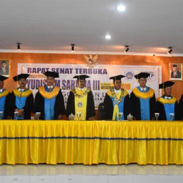 Yudisium dan Penggelaran 57 Calon Lulusan Mahasiswa FAKULTAS ILMU SOSIAL DAN ILMU POLITIK III Priode Desember 2019